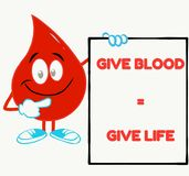 perfect blood donation  inspirational quote vector illustration