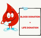 Motivational phrase for blood donation stock illustration