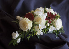 Perfect Blooms. Bouquet of white and red roses Royalty Free Stock Image