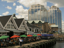 Perfect Blue Buildings. A scene taken on the Halifax Waterfront Stock Photography
