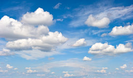 Perfect blue cloudy day sky Royalty Free Stock Photography