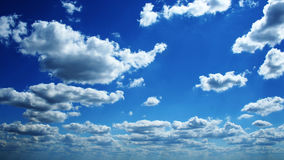 Perfect blue cloudy sky Stock Photo