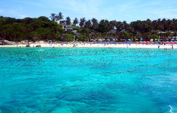 Perfect blue ocean at Thailand beach resort Royalty Free Stock Photography