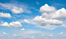 Perfect blue sky with clouds. Nature background Stock Photography