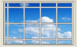 Perfect blue sky through the window Royalty Free Stock Image