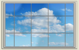 Perfect blue sky through the window Royalty Free Stock Photography