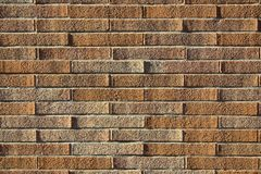 Perfect Brick Wall With Lights And Shadows Of The Setting Sun. Stock Image