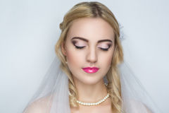 Perfect bride woman Royalty Free Stock Images