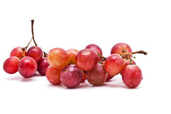 Perfect bunch of red grapes isolated Royalty Free Stock Photography
