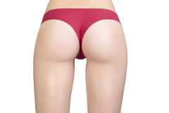 Perfect butt in red underwear Royalty Free Stock Image