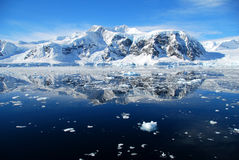 Perfect calm ocean in antarctica Royalty Free Stock Image