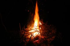 Perfect Campfire. I took this photograph of our campfire this August (2004).  I thought it was just perfect Stock Images