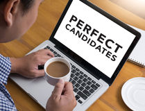 PERFECT CANDIDATES CONCEPT stock photos