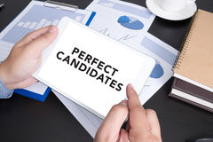 PERFECT CANDIDATES CONCEPT Royalty Free Stock Image