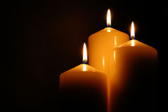 Perfect candles. Creating a lovely atmosphere Royalty Free Stock Photo