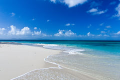 Perfect Caraïbisch Strand royalty-vrije stock foto's