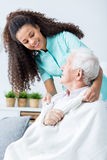 Perfect care in nursing home Royalty Free Stock Photography