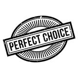 Perfect Choice rubber stamp Stock Photo
