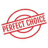 Perfect Choice rubber stamp Royalty Free Stock Photos