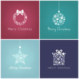 Perfect Christmas design for greetings card Stock Images