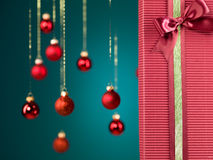 Perfect christmas gift box Royalty Free Stock Images