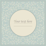 Perfect circle frame with cute flowers Royalty Free Stock Image