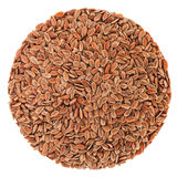 Perfect circle of Linseeds isolated on white Stock Photos