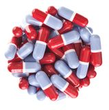Perfect circle off Red and blue tablets Royalty Free Stock Photography