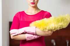 Perfect cleaning lady Stock Photos