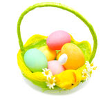 Perfect colorful handmade easter eggs Stock Images