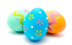 Perfect colorful handmade easter eggs isolated on a white Stock Image