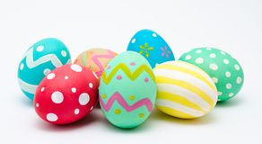 Perfect colorful handmade easter eggs  Stock Image