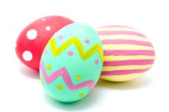 Perfect colorful handmade easter eggs  Royalty Free Stock Photos