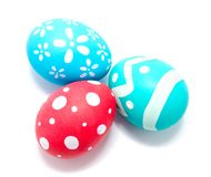 Perfect colorful handmade easter eggs  Royalty Free Stock Photography
