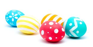 Perfect colorful handmade easter eggs  Royalty Free Stock Images