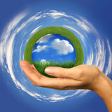 Perfect Concept of a Clean Planet Within Reach Royalty Free Stock Photo