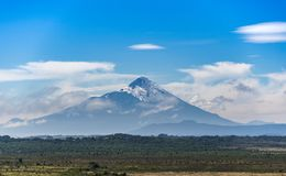 The perfect cone of the Osorno volcano royalty free stock image