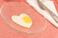 Perfect Cooked Egg. This is really good staff a perfect organic fried egg Stock Photos