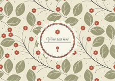Perfect cover for wedding album with red flowers and green leave Stock Images