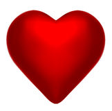 Perfect Crimson Red Heart Stock Images