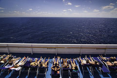 Perfect cruise - soaking up the sunshine Stock Photos