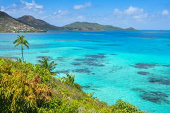 Incredible caribbean sea view of Providencia islan Royalty Free Stock Image