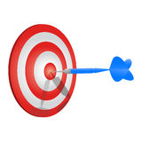 Perfect dart Royalty Free Stock Images