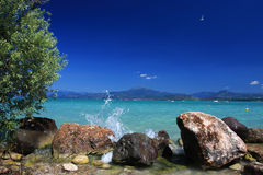 Perfect day. The perfect day at the beach, deep blue sky, warm weather and cool water Royalty Free Stock Image