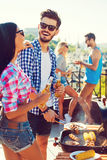 Perfect day for barbecue. Royalty Free Stock Photo