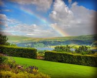 Perfect day. Beautiful view of the lake Ullswater on a perfect British summer day Stock Image