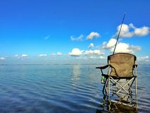 Perfect day. Fishing off Padre Island Royalty Free Stock Image