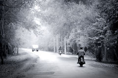 The perfect day for a motorbike ride Stock Images