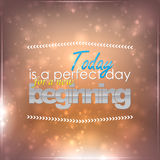 Perfect day for a new beginning Royalty Free Stock Image