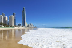 Perfect day on Surfers Paradise beach Stock Photography